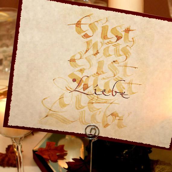 Hochzeitskalligrafie